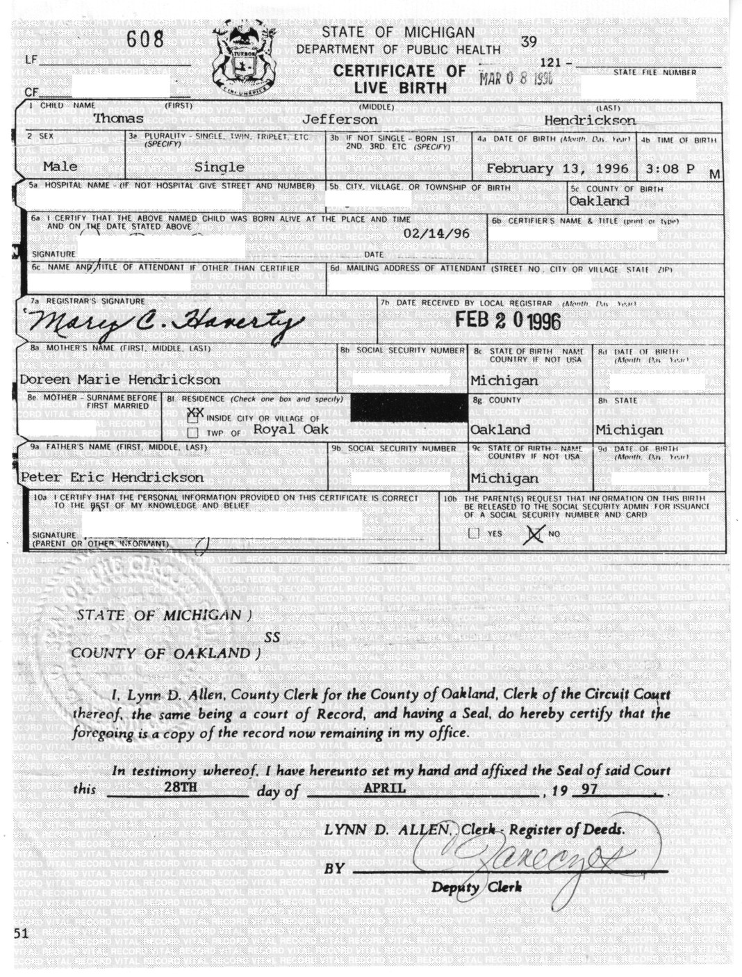 Birth Certificate Lunacy