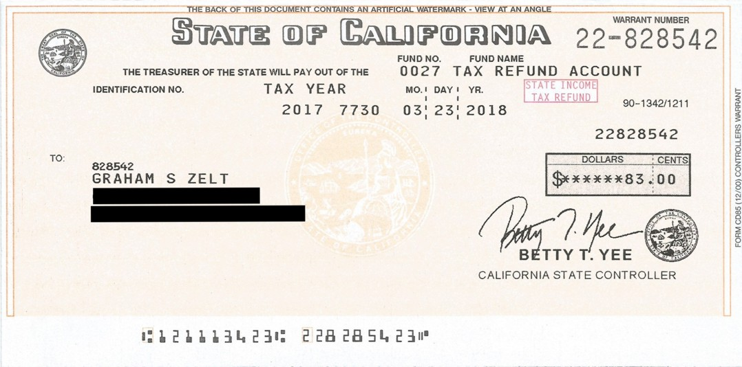 Here Is The Filing That Produced This Refund For 2017