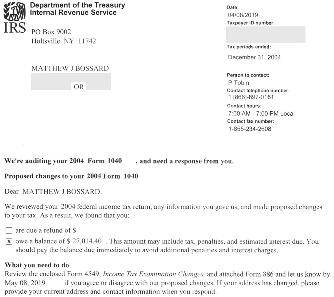 Irs Non Filing Letter 2018